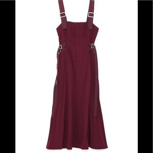 SNIDEL Corset style layer dress MAROON Size: 1